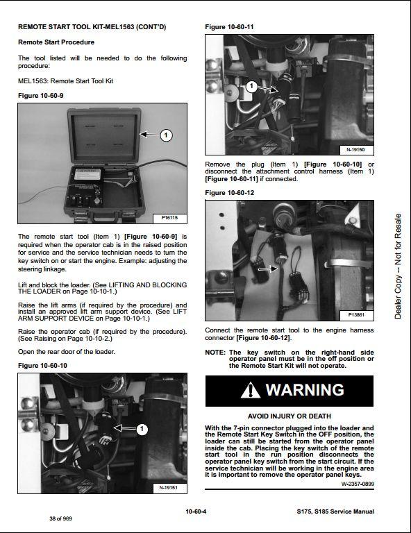 Bobcat S175  S185 Skid Steer Loader Service Repair Workshop