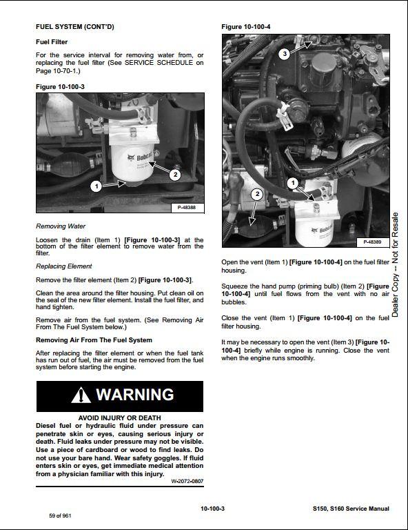 bobcat s150 s160 skid steer loader service repair workshop manual 529711001 ac3211001 a repair