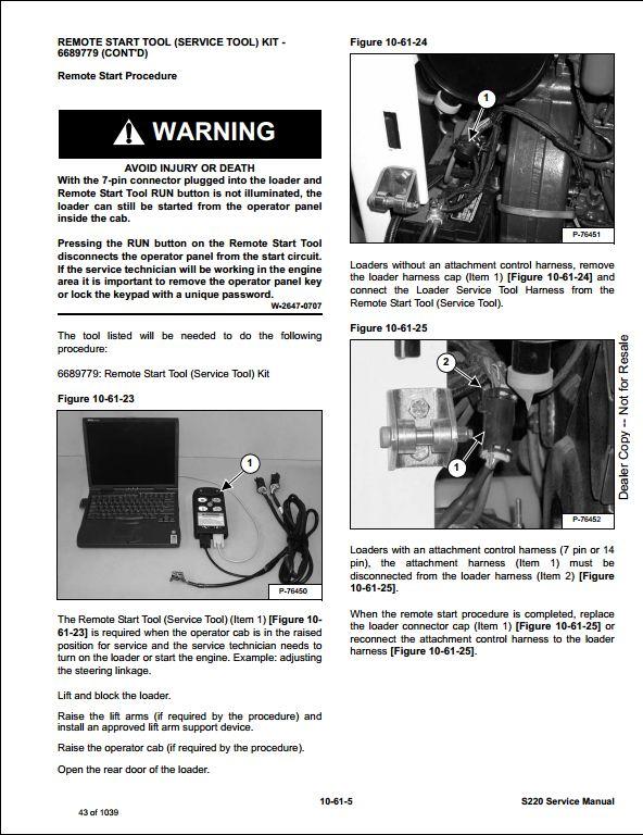 bobcat s220 turbo skid steer loader service repair workshop manual instant bobcat s220 turbo skid steer loader service repair workshop manual 530711001 530811001 this manual content all service repair