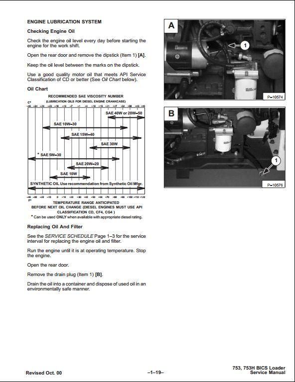 Bobcat 753 Skid Steer Loader Service Repair Workshop Manual 515830001