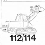 JCB 112/114 Crawler Loading Shovel Parts Manual