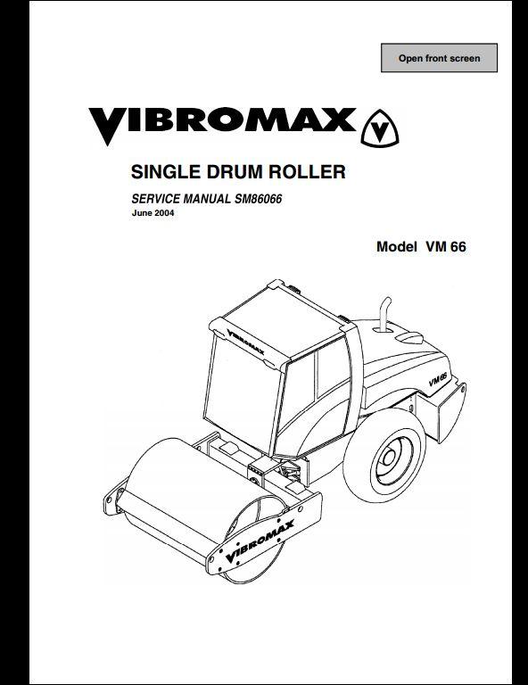 vibromax vm 66 sigle drum roller service repair workshop manual sm86066