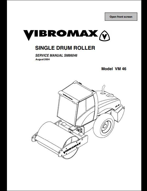 vibromax vm 46 sigle drum roller service repair workshop. Black Bedroom Furniture Sets. Home Design Ideas