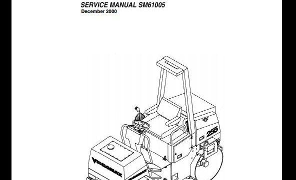 vibromax 255  265 tandem roller service repair workshop manual sm61005