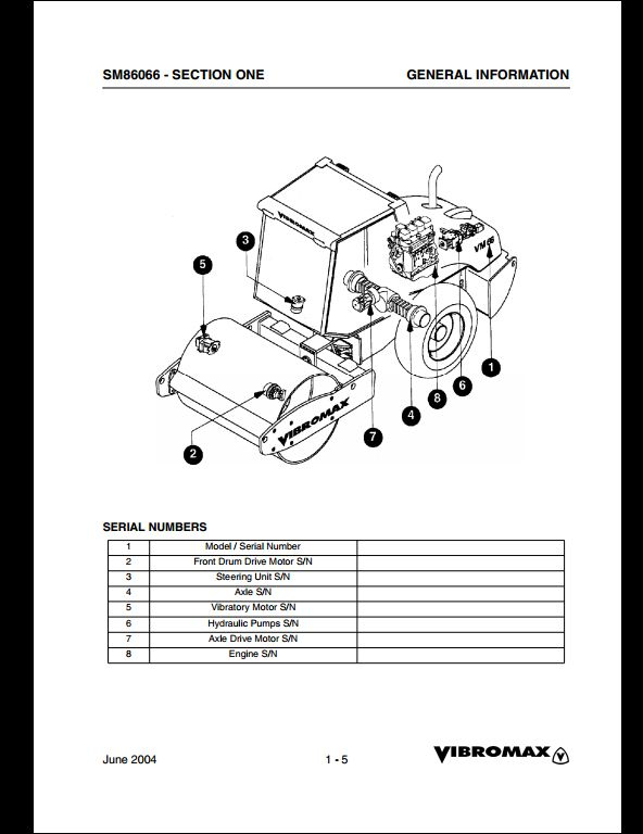 vibromax vm 66 sigle drum roller service repair workshop