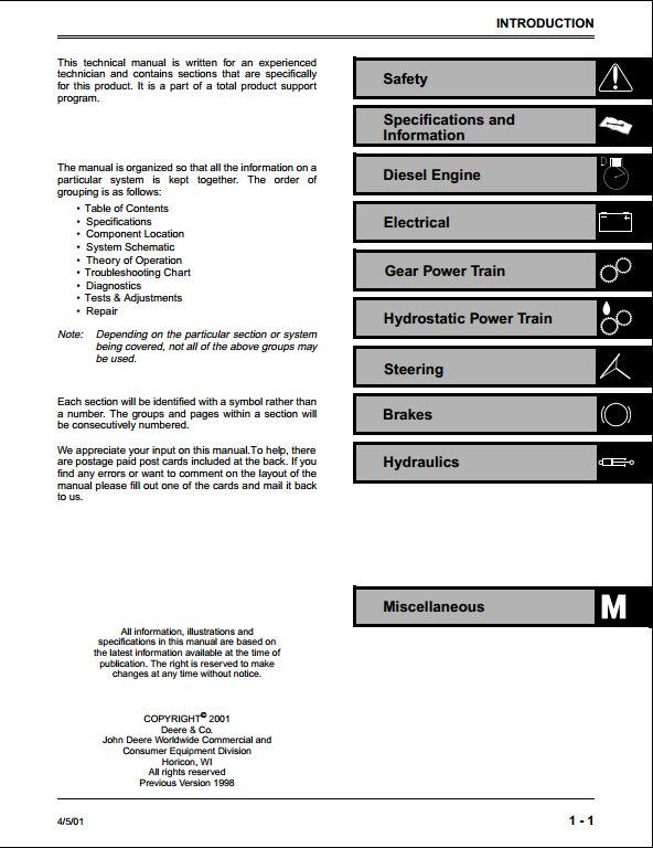 john deere 4100 tractor electrical diagrams manual  john