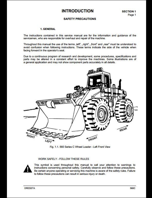 komatsu wheel loaders 560c service repair workshop manual. Black Bedroom Furniture Sets. Home Design Ideas