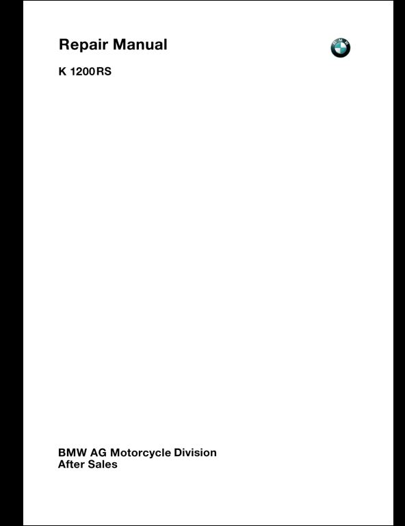 BMW K1200RS Motorcycle Service Repair Workshop Manual – K1200rs Wiring Diagram