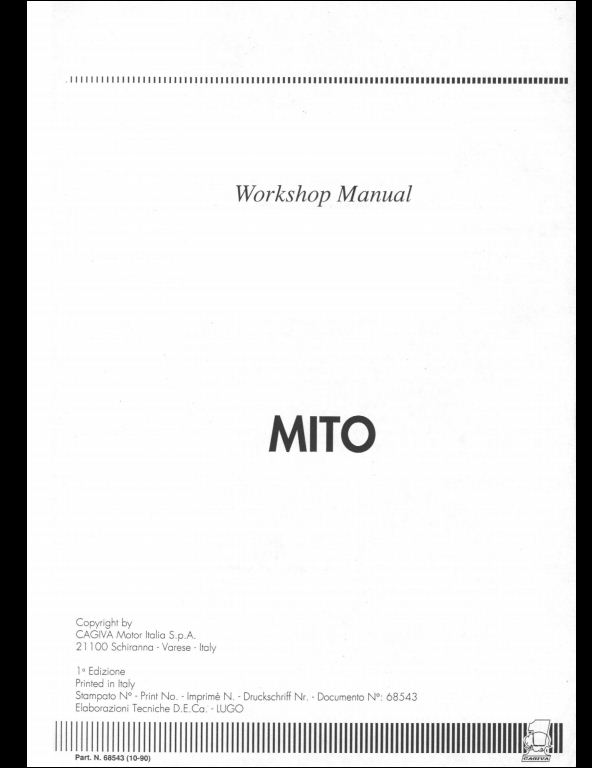 Cagiva Mito Seven Speed Motorcycle Service Repair Workshop Manual