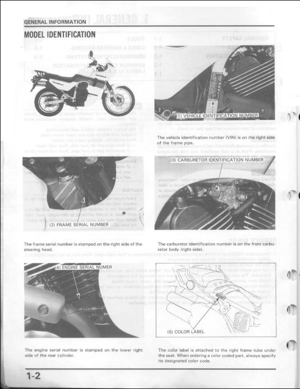 1986 2001 honda transalp 600 motorcycle service repair. Black Bedroom Furniture Sets. Home Design Ideas