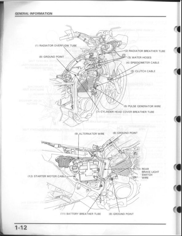 1986-2001 Honda Transalp 600 Motorcycle Service Repair Workshop Manual