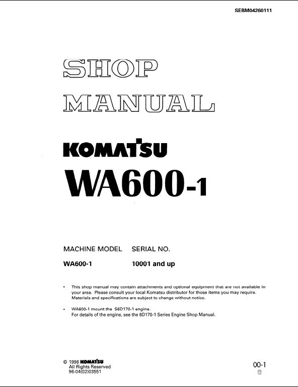 KOMATSU_1 61 komatsu wheel loaders wa600 1 service repair workshop manual a komatsu wiring schematics at gsmx.co