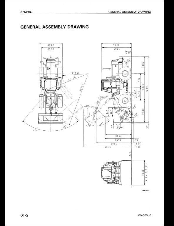 Komatsu Wheel Loaders Wa300l 3 Service Repair Workshop Manual