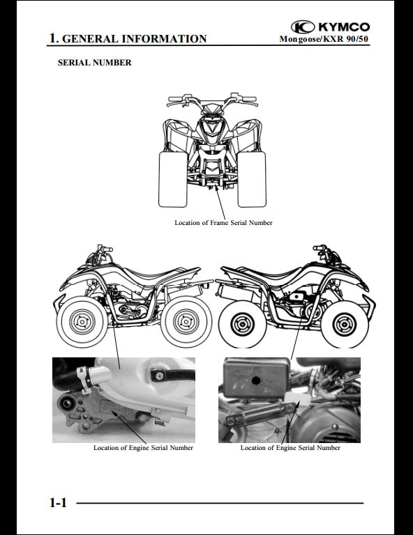 kymco mongoose kxr 90 50 motocycle service repair workshop. Black Bedroom Furniture Sets. Home Design Ideas