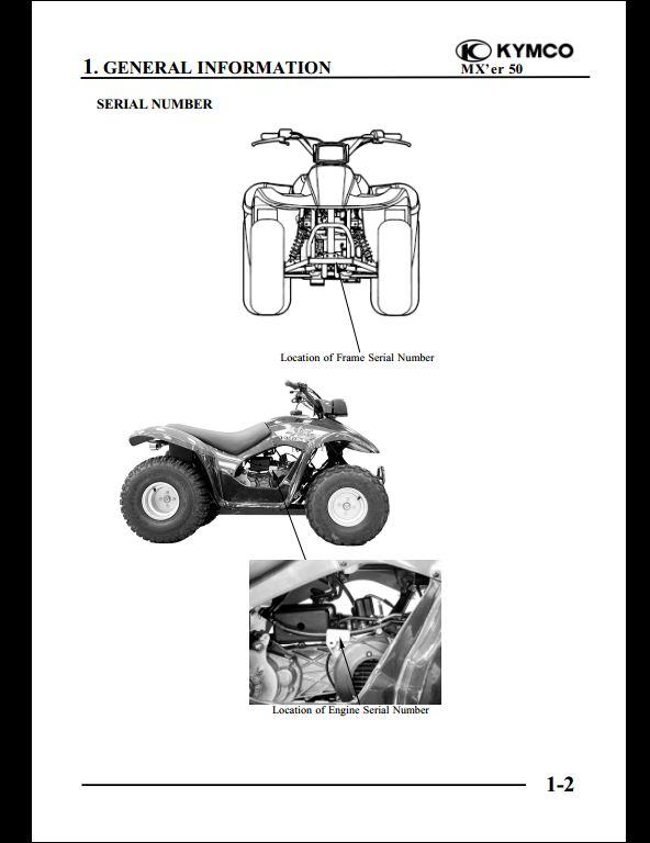 Kymco Mx U0026 39 Er 50 Motocycle Service Repair Workshop Manual