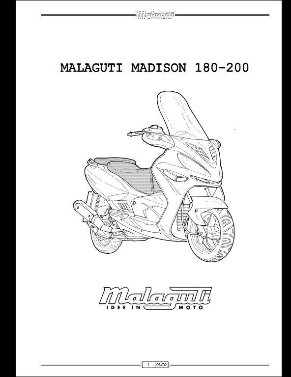 malaguti madison 180  200 motocycle service repair workshop