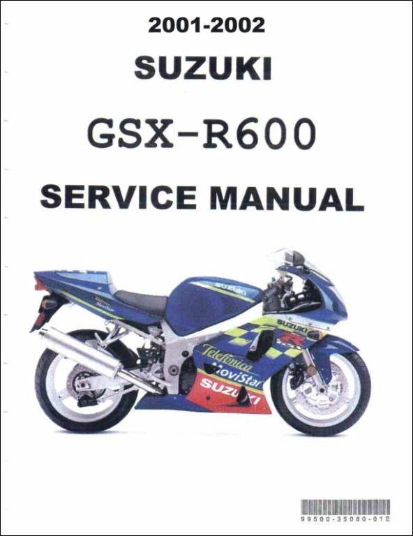 Gsx r600 parts manual