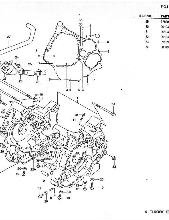 1998-2000 Suzuki TL1000R Motocycle Service Repair Parts Manual