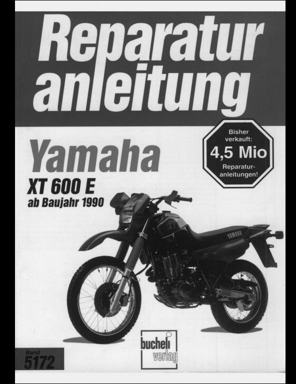 1990 Yamaha Xt600e Motocycle Service Repair Workshop