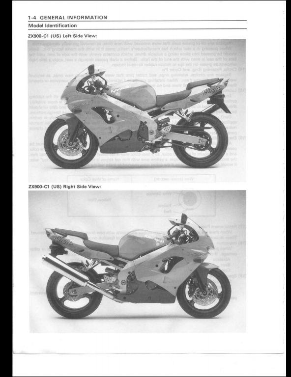 1998 1999 kawasaki zx9r motocycle service repair workshop manual a rh arepairmanual com