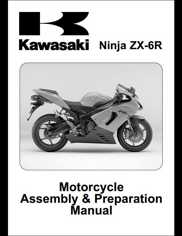 2005 Kawasaki Zx6r Motocycle Service Repair  Assembly  Parts