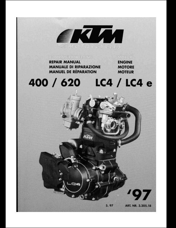 ktm 400 620 lc4 sport motocycle engine service repair workshop instant ktm 400 620 lc4 sport motocycle engine service repair workshop manual this manual content all service repair maintenance
