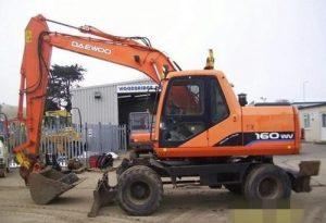 Doosan Solar 140/160W-V Wheeled Excavator Service Repair Workshop Manual