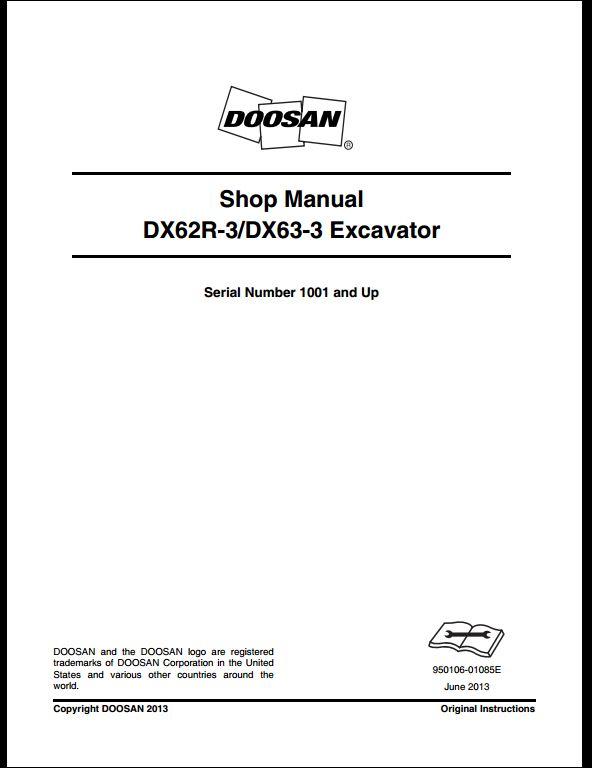 2013 Doosan Dx62r Dx63