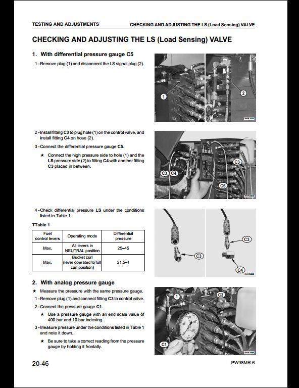 komatsu excavator service manual pdf