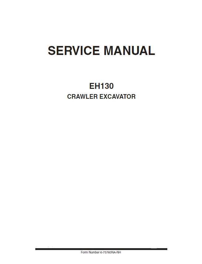 New Holland Eh130 Crawler Excavator Service Repair Manual