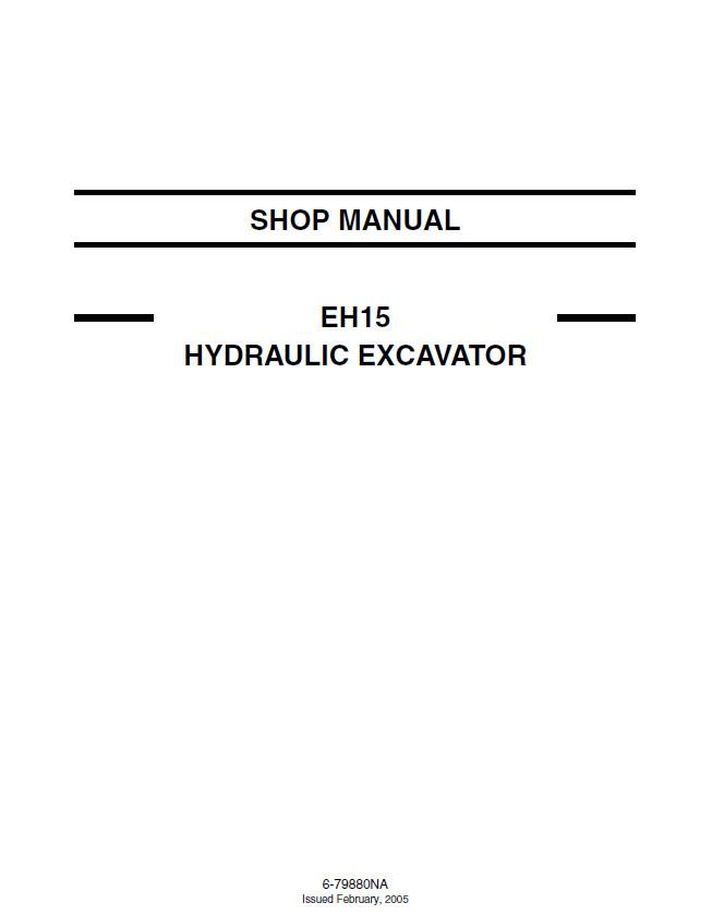 New Holland Eh15 Crawler Excavator Service Repair Manual