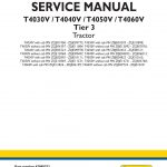 New Holland T4030V/T4040V/T4050V/T4060V Tractor Service Repair Manual