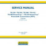 New Holland T8.320/T8.350/T8.380/T8.410/T8.380 SmartTrax™/T8.410 SmartTrax™ Tractor Service Repair Manual(Part number 47918011)