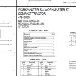 New Holland WORKMASTER 33/WORKMASTER 37 COMPACT TRACTOR ELECTRICAL SCHEMATIC Service Repair Manual