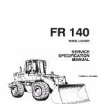 Fiatallis FR140 Wheel Loader Service Specification Manual