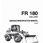 Fiatallis FR180 Wheel Loader Service Specification Manual