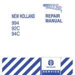 New Holland 994/92C/94C Grain Belt Headers Service Repair Manual