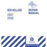 New Holland 2331/2332 Disc Header Service Repair Manual
