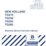 New Holland TG210/TG230/TG255/TG285 Electronic Service Tool User's Manual