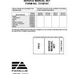 Fiat-Allis FR11 Wheel Loader Service Repair Manual